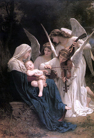 William Adolphe Bouguereau Song of the Angels - Hand Painted Oil Painting