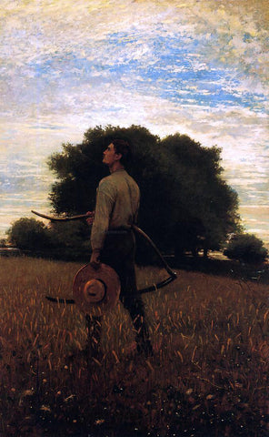 Winslow Homer Song of the Lark (also known as In the Field) - Hand Painted Oil Painting