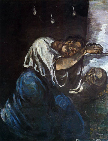 Paul Cezanne Sorrow (also known as The Magdalen) - Hand Painted Oil Painting