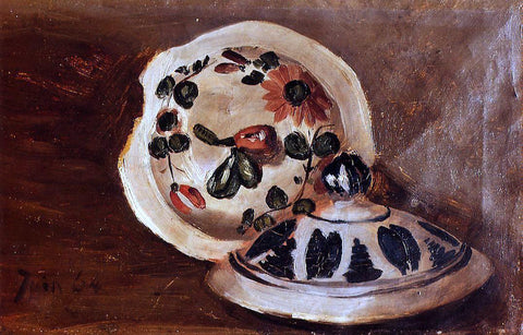 Jean Frederic Bazille Soup Bowl Covers - Hand Painted Oil Painting