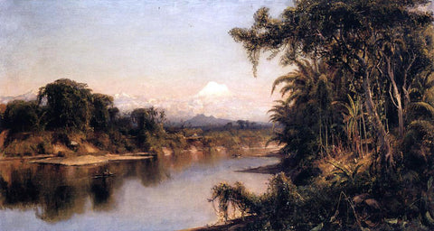 Louis Remy Mignot South American Landscape (also known as Chimborazo from Riobamba) - Hand Painted Oil Painting