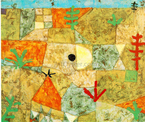 Paul Klee Southern Gardens - Hand Painted Oil Painting