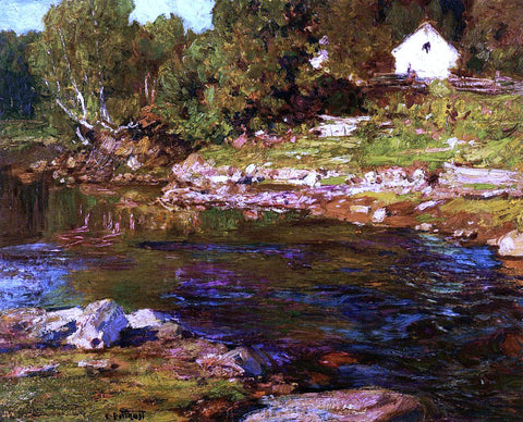 Edward Potthast Souvenir of Canada - Hand Painted Oil Painting