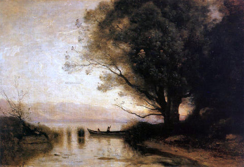 Jean-Baptiste-Camille Corot Souvenir of Riva - Hand Painted Oil Painting