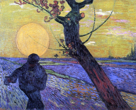 Vincent Van Gogh Sower with Setting Sun - Hand Painted Oil Painting