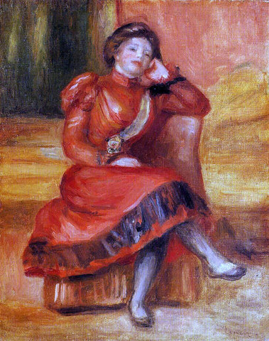 Pierre Auguste Renoir Spanish Dancer in a Red Dress - Hand Painted Oil Painting