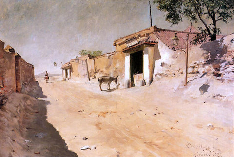 William Merritt Chase Spanish Village - Hand Painted Oil Painting