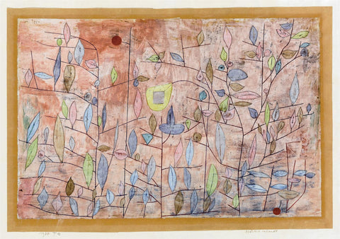 Paul Klee Sparse Foliage - Hand Painted Oil Painting