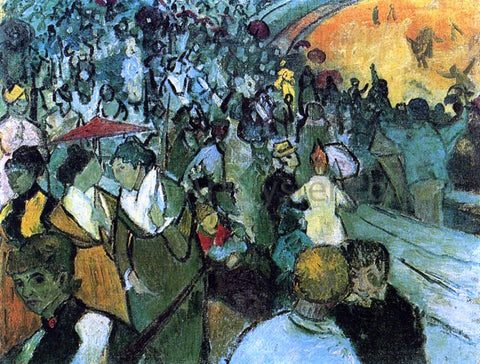 Vincent Van Gogh Spectators in the Arena at Arles - Hand Painted Oil Painting
