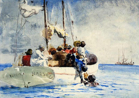 Winslow Homer Sponge Fishing - Hand Painted Oil Painting