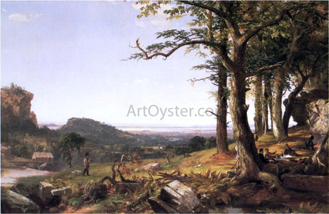Jasper Francis Cropsey Sportsmen Nooning - Hand Painted Oil Painting