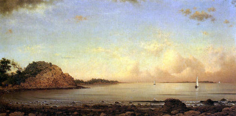 Martin Johnson Heade Spouting Rock, Newport - Hand Painted Oil Painting