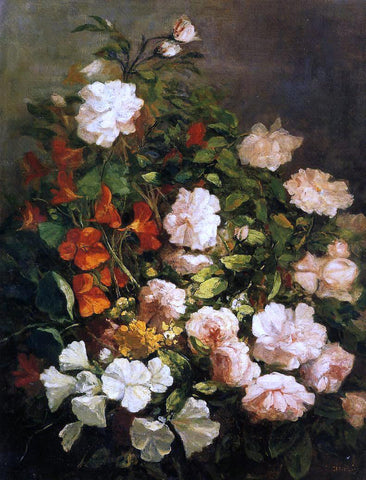 Eugene-Louis Boudin Spray of Flowers - Hand Painted Oil Painting