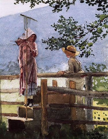 Winslow Homer Spring - Hand Painted Oil Painting