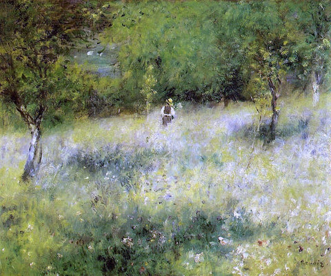 Pierre Auguste Renoir Spring at Catou - Hand Painted Oil Painting