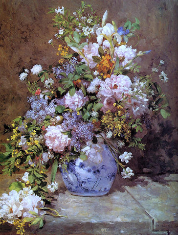 Pierre Auguste Renoir Spring Bouquet - Hand Painted Oil Painting