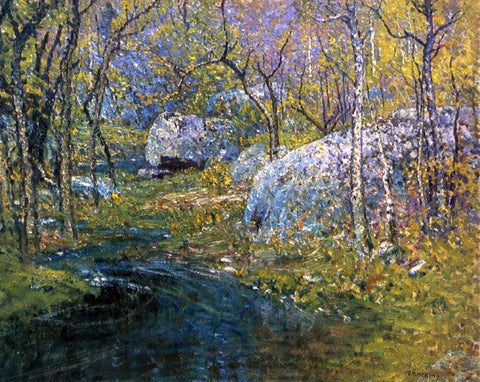 John Joseph Enneking A Spring Brook - Hand Painted Oil Painting