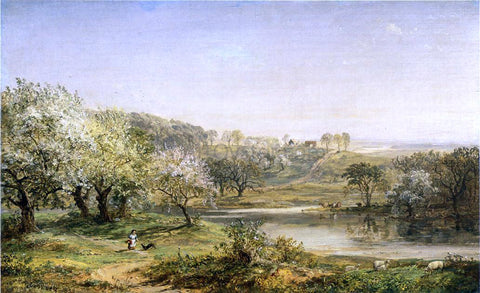 Jasper Francis Cropsey Spring, Chenango Valley - Hand Painted Oil Painting