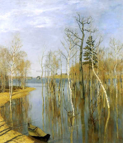 Isaac Ilich Levitan A Spring Flood - Hand Painted Oil Painting