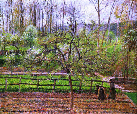 Camille Pissarro Spring, Gray Weather, Eragny - Hand Painted Oil Painting