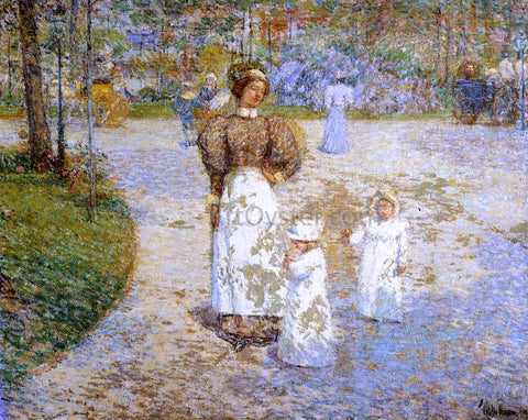 Frederick Childe Hassam Spring in Central Park (also known as Springtime) - Hand Painted Oil Painting