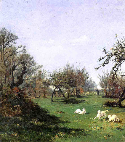 William Lamb Picknell Spring in Pont Aven - Hand Painted Oil Painting