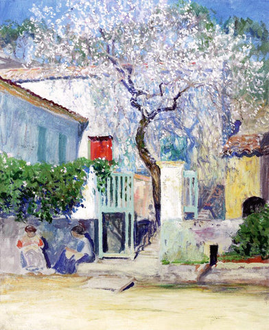 Guy Orlando Rose Spring on the Riviera - Hand Painted Oil Painting