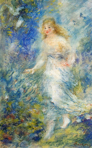 Pierre Auguste Renoir Spring (The Four Seasons) - Hand Painted Oil Painting