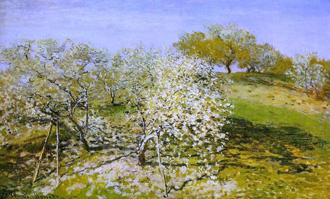 Claude Oscar Monet Springtime (also known as Apple Trees in Bloom) - Hand Painted Oil Painting