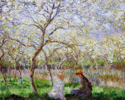 Claude Oscar Monet Springtime - Hand Painted Oil Painting