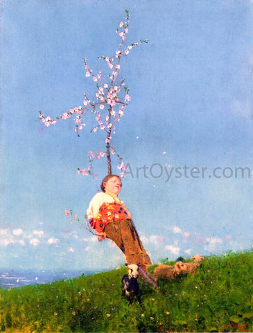 Francesco Paolo Michetti Springtime - Hand Painted Oil Painting