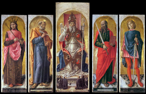 Bartolomeo Vivarini St Ambrose Polyptych - Hand Painted Oil Painting