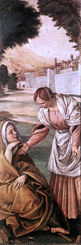 Gaudenzio Ferrari St Anne Consoled by a Woman - Hand Painted Oil Painting