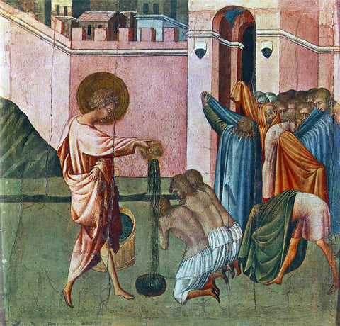 Giovanni Di Paolo St Ansanus Baptizing - Hand Painted Oil Painting