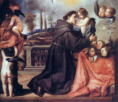 Antonio De Pereda St Anthony of Padua with Christ Child - Hand Painted Oil Painting