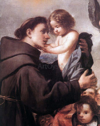 Antonio De Pereda St Anthony of Padua with Christ Child (detail) - Hand Painted Oil Painting