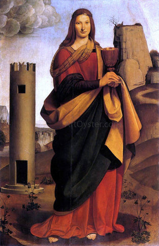 Giovanni Antonio Boltraffio St Barbara - Hand Painted Oil Painting