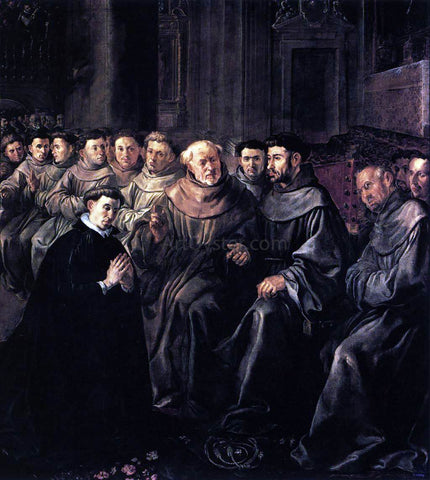 The Elder Francisco De  Herrera St Bonaventure Enters the Franciscan Order - Hand Painted Oil Painting