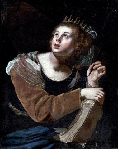Artemisia Gentileschi St Catherine of Alexandria - Hand Painted Oil Painting
