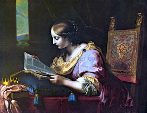 Carlo Dolci St Catherine Reading a Book - Hand Painted Oil Painting