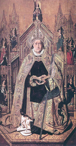Bartolome Bermejo St Dominic Enthroned in Glory - Hand Painted Oil Painting