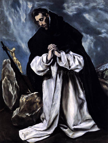El Greco St Dominic in Prayer - Hand Painted Oil Painting