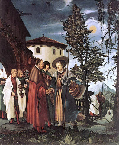 Denys Van Alsloot St. Florian Taking Leave Of The Monastery - Hand Painted Oil Painting