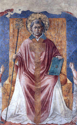 Benozzo Di Lese di Sandro Gozzoli St Fortunatus Enthroned - Hand Painted Oil Painting
