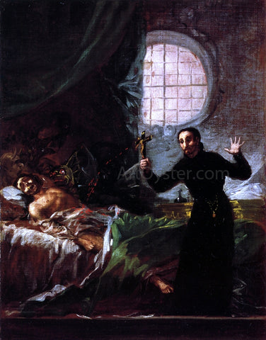 Francisco Jose de Goya Y Lucientes St Francis Borgia at the Deathbed of an Impenitent - Hand Painted Oil Painting