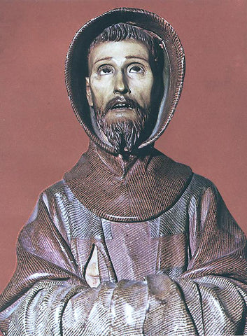 Pedro De Mena St Francis of Assisi - Hand Painted Oil Painting