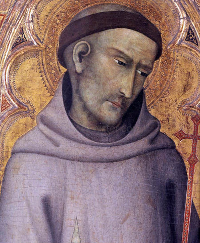 Andrea di Vanni D'Andrea St Francis of Assisi (detail) - Hand Painted Oil Painting
