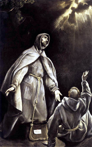 El Greco St Francis's Vision of the Flaming Torch - Hand Painted Oil Painting