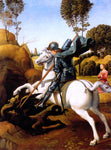 Raphael St. George and the Dragon - Hand Painted Oil Painting