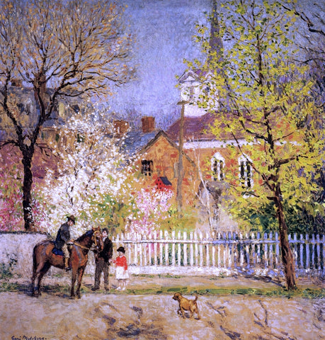 Gari Melchers St. George's Church - Hand Painted Oil Painting